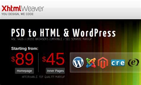 psd to wordpress theme conversion service providers