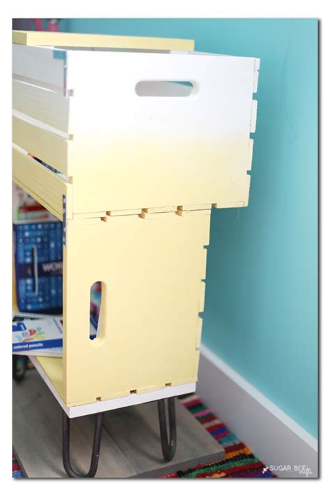 How To Make A Nightstand by Diy Crate Nightstand Bee Crafts