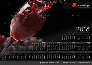 Poster Calendar Template Indesign 2018 Poster Calendar Template By La Croix Graphicriver