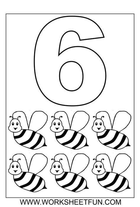 number coloring 1 10 ten worksheets kindergarten
