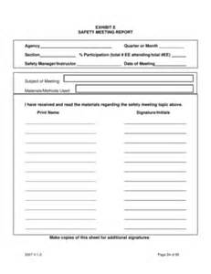 Safety Meeting Sign In Sheet Template by Safety Meeting Sign In Sheet Forms And Templates