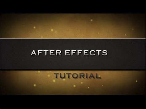 tutorial after effect intro tutorial after effects in romana intro slide text youtube