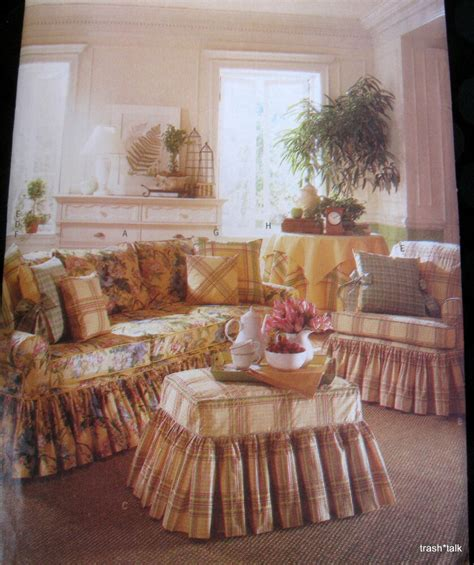 waverly home decor sewing pattern slipcover sofa chair