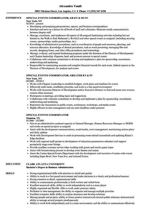 special resume format amazing special events resume photos exle resume