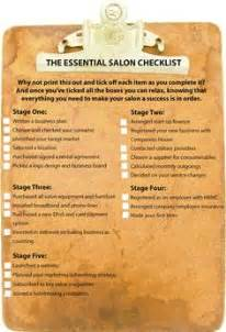 salon checklist start up salon