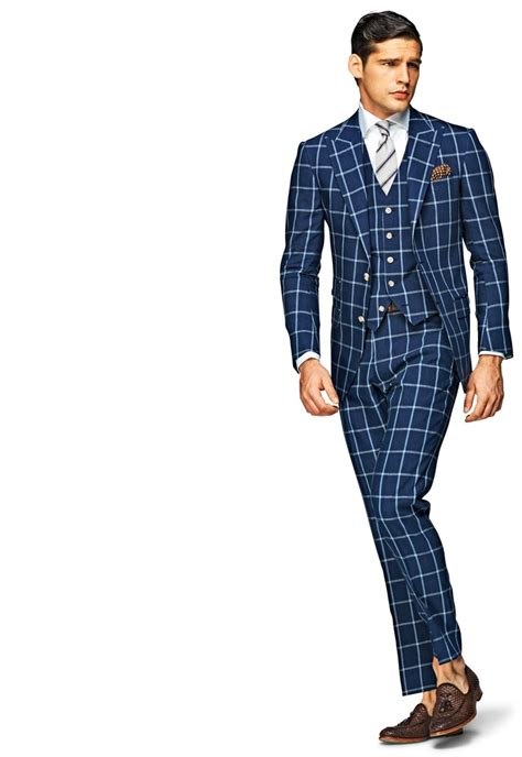 best suits i like it suitsupply washington blue checked suit 569