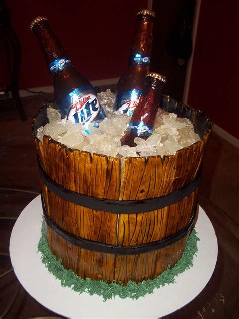 miller lite beer bucket   beer bucket cake  add      edible