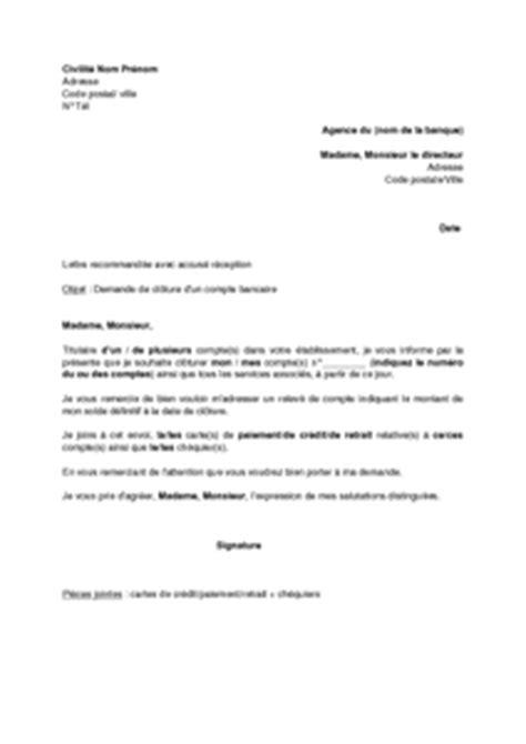 Lettre De Cloture Free Exemple Gratuit De Lettre Cl 244 Ture Un Compte Bancaire