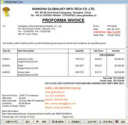 proforma invoice joy studio design gallery best design