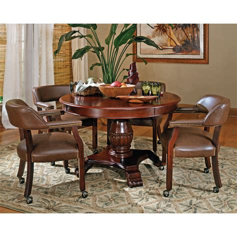 steve silver 5 tournament dining table set with