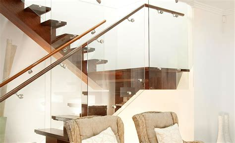 A Frame Style Homes glass balustrade stairs melbourne frameless glass