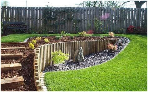 Landscaping Ideas For Sloping Gardens Image Of Steep Slope Landscaping Ideas On A Sloped Front Yard Backyard Hillside Landscape