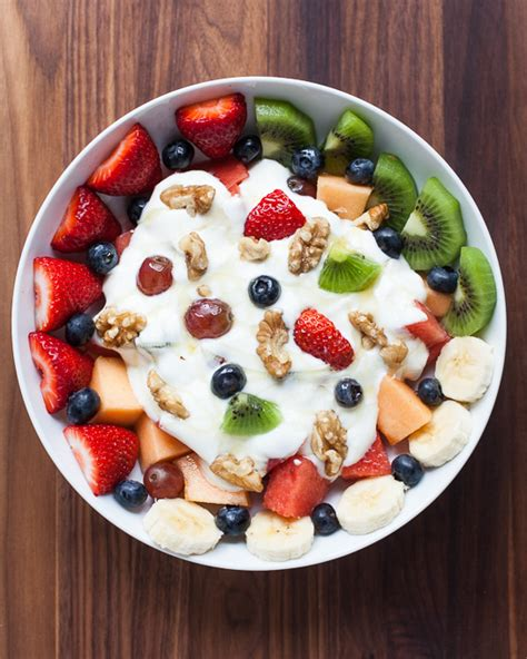fruit yogurt bowl fruit nut and honey yogurt bowl