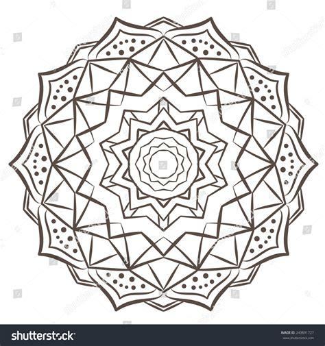 mandala tattoo vector ethnic fractal mandala vector meditation tattoo 스톡 벡터
