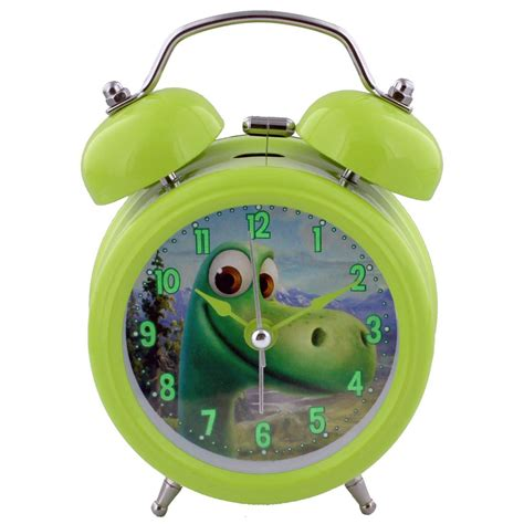 disney characters proper bell alarm bedside clock in gift box