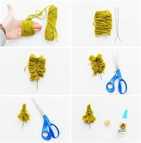 creative ideas diy mini tree diy mini yarn trees