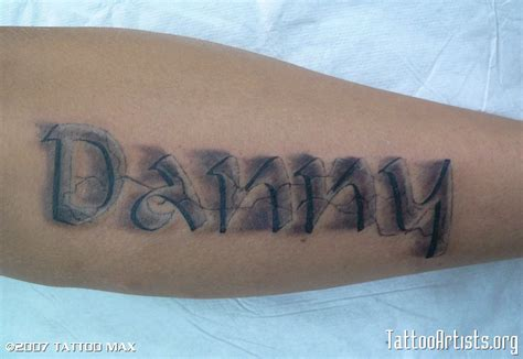 tattoo 3d lettering 3d lettering tattoo artists org