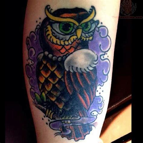 owl tattoo purple owl tattoostime search
