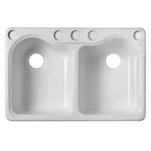 Kitchen Basin Sink Shop Kohler Hartland 22 In X 33 In White Basin Cast Iron Undermount 5 Commercial