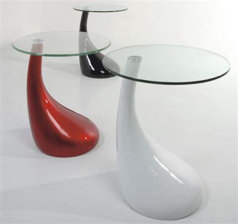 comodino rotondo tavolino comodino con ruote in vetro e metallo