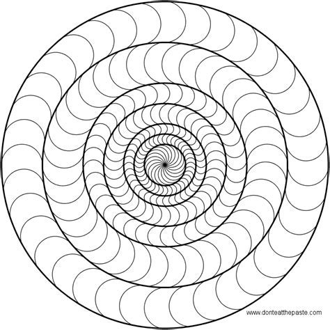Dont Eat The Paste Circles Mandala To Color