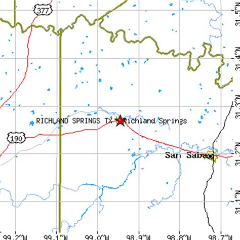 richland texas map richland springs texas tx population data races housing economy
