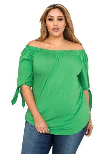 Blouse Atasan Tunik Import Green Casual Sleeve Size S 306817 Womens Plus Size Shoulder Plain Blouse Green