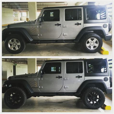 silver jeep wrangler 2 inch lift 20 inch rims black rhino glamis cars