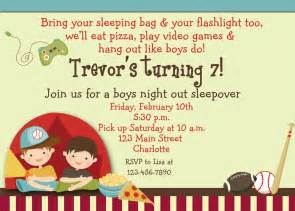 boys sleepover birthday invitation by thebutterflypress