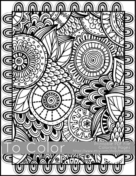 doodle pattern pdf printable coloring pages for adults all over large doodle