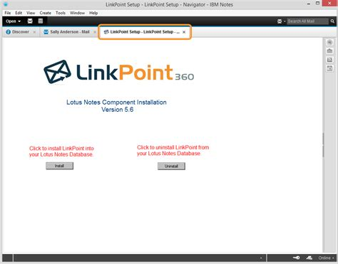 lotus notes installer installing linkpoint connect agents within lotus notes