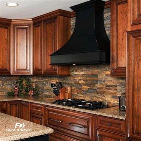 faux stone kitchen backsplash hassle free renovation faux direct