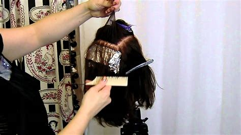 sectioning hair for a partial highlight basic foil placement for beginner stylists youtube