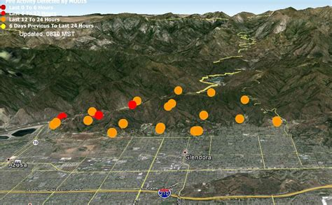 california wildfire map 2014 colby near glendora california wildfire today