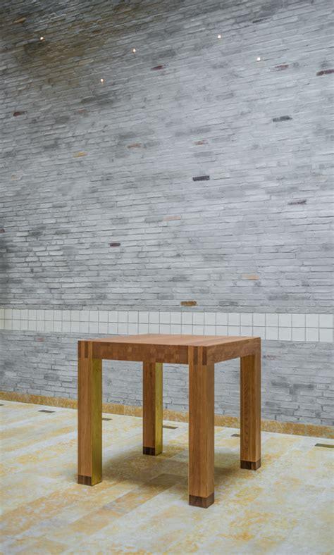 tafels enschede kersenhouten banken en altaartafel mst enschede