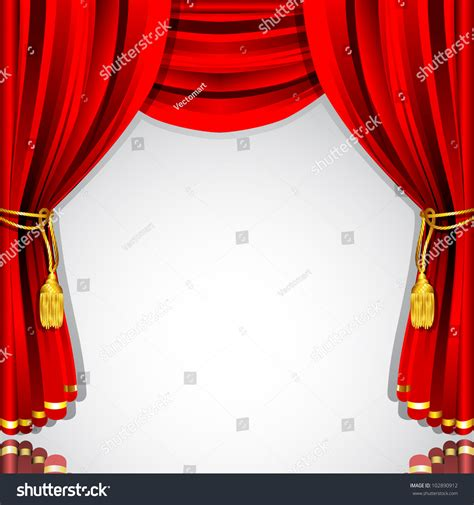 stage backdrop design vector illustration of silk stage curtain with white backdrop