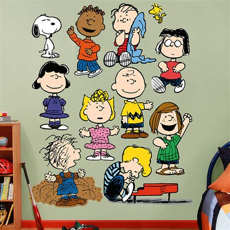 peanuts characters decorations peanuts collection wall decal shop fathead 174 for peanuts