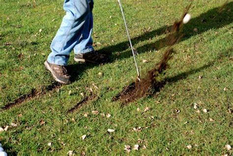 golf swing divot after ball what you can learn from your golf divots to improve your