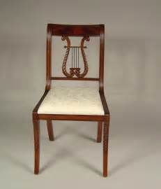 Lyre back dining room chairs harp back dining chairs solid mahogany