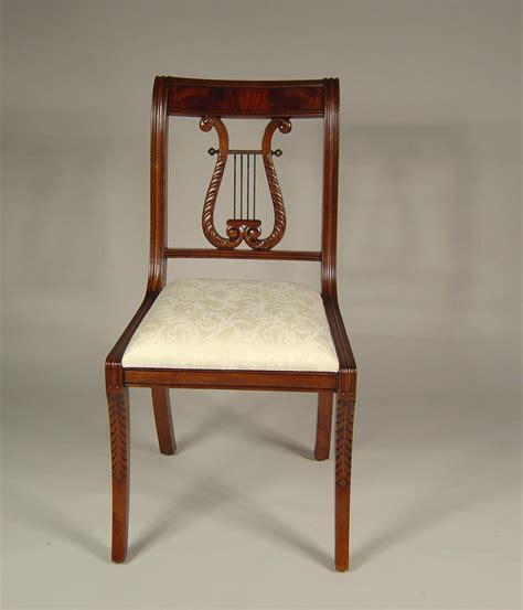 Harp Back Dining Chairs by Lyre Back Dining Room Chairs Solid Mahogany Schmieg
