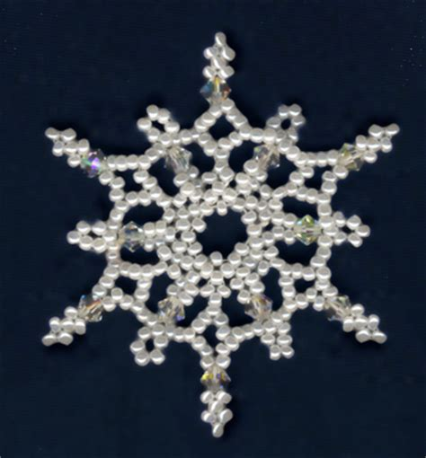 beaded snowflake patterns free free bead patterns and ideas snowflake 7 ornament pattern