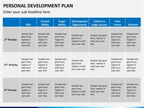 template of personal development plan personal development plan powerpoint template sketchbubble