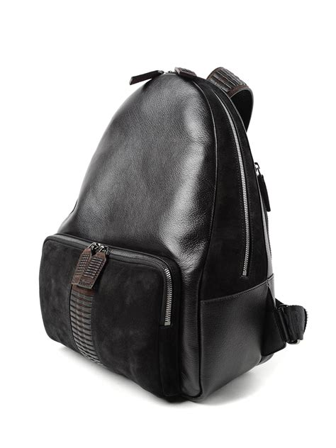 Salvatore Ferragamo Leather leather and suede backpack by salvatore ferragamo