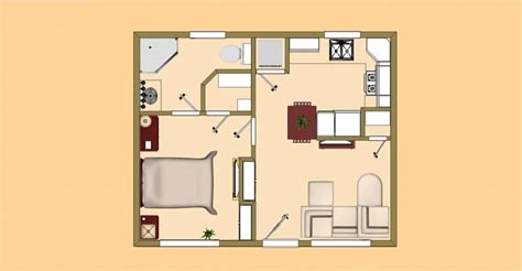 500 sq ft floor plan tiny house plans 500 square