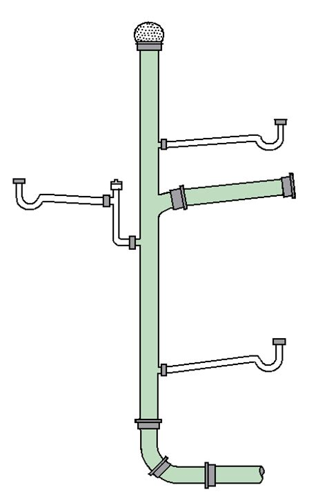 Air Vent For Plumbing System by Drain Waste Vent System