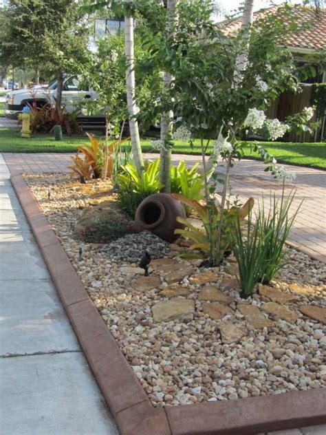 rock landscape design best 25 rock yard ideas on garden ideas with