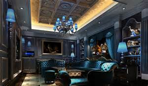 blue light design for night club room download 3d house