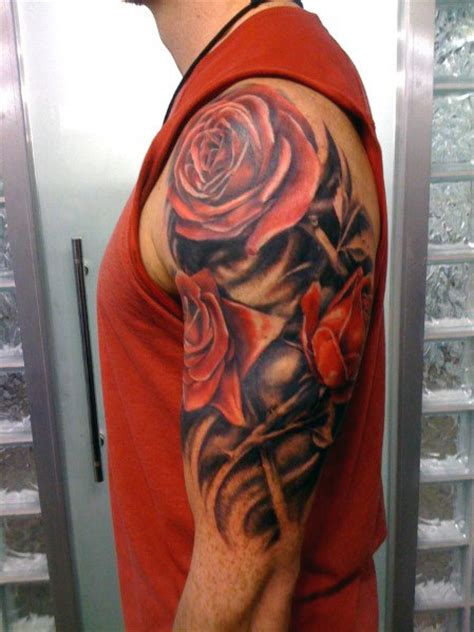 top 35 best rose tattoos for men an intricate flower