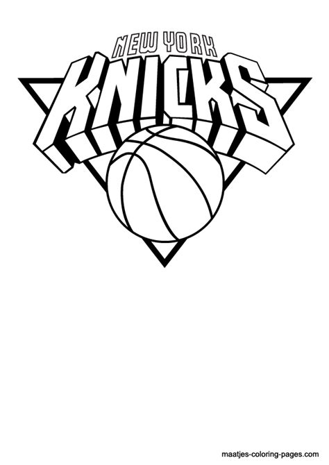 New York Knicks Coloring Pages nba new york knicks logo coloring pages