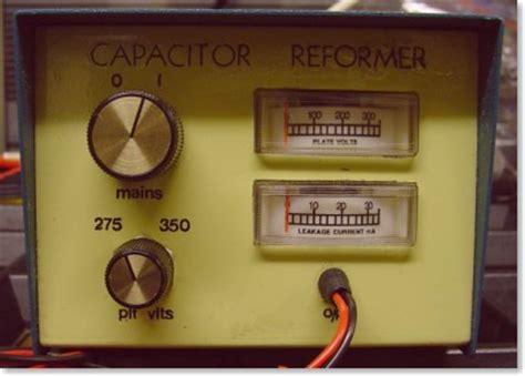 uk vintage radio repair and restoration high voltage electrolytic capacitor reformer
